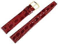 Echt-Leder Uhren Armband Grün Gold 15 mm Dornschließe Ersatzband X8000024150