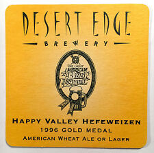 Desert Edge Brewery - Double Sided Coaster - Denver, Colorado - 1996 Issue
