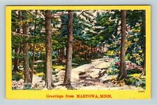 Mahtowa MN, Scenic Greetings, Minnesota, Linen Postcard Z58