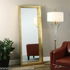 Classic Contemporary Gold Full Length Wall Mirror | Floor Leaner
