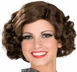 Brown Curly Flapper ADULT Wig Costume Accessory NEW Roaring 20s 1920s