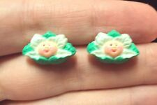 vintage cabbage Patch head kids baby doll Childrens pierced stud earrings Avon