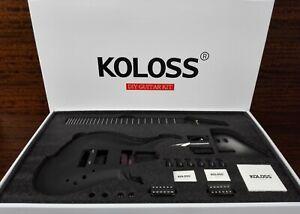 Koloss GT-4 Black Aluminum Alloy Electric Guitar DIY w/H-H Pickup - Full Kit