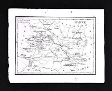 1833 Perrot Tardieu Map - Marne - Vitry Epernay Reims Chaalons  - France