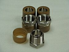 "Merit 316 Forged Stainless Steel 1"" x 3/4"" NPT Pipe fitting Bushing Class 3000"