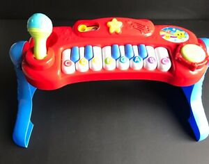 PRE-SCHOOL CHILDS ELECTRONIC PIANO TOY WITH SOUNDS,LIGHTS.COLLAPSES DOWN