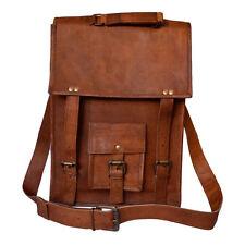 Leather Vintage Messenger Shoulder Men's Satchel Laptop And School Briefcase Bag