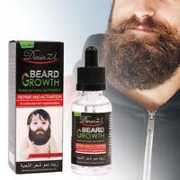 Beard Growth Essential Oil Fast Facial Serum Grow Mustache Eyebrow Hair Care