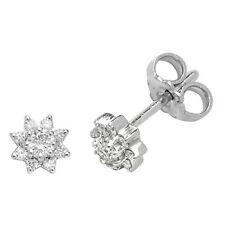 Diamant-Ohrringe Weiss Gold Cluster Ohrstecker 0.25ctw Schätzung Zertifikat