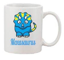 Personalised your name cute dino dinosaur print mug kids boys girl gift xmas