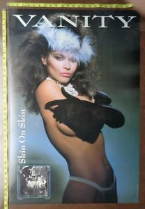 """VANITY Poster,24x36"""",Very RARE Original,Record Company promo,Two sided"""