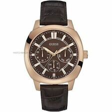 Genuine Leather Band Men's Round 50 m (5 ATM) Wristwatches
