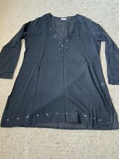 Black Beach Cover Up Size L