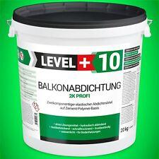 20 kg Balkonabdichtung Dichtschlämme 2K Terrasse Abdichtung Bad Balkone RM10