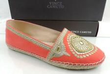Vince Camuto Dayna Espadrille Flats Canvas / Embroidery Metallic Orange Size 7