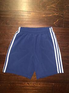 """Adidas Youth """"Boys"""" (CF0697) Soccer Shorts Navy/White - Size Large"""