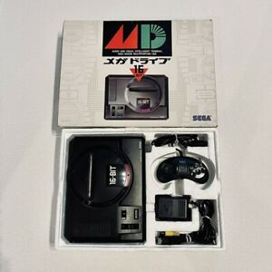 Sega Mega Drive Console Boxed W/Controller AC Adapter AV Cable WORKING! Japan