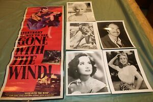 Theater Advertising poster Gone with the Wind and 8 X 10 prints