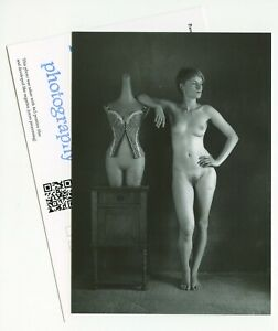 Signed postcard with fineart photograph by Pavel Apletin artists stamp nudity