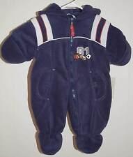 Rothschild Snowsuit Bunting 0 3 6 M NWT Blue Sports $70 One Piece Hood Fleece