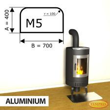 Kamin Bodenplatte Funkenschutz Kaminplatte Aluminium Ofen Platte Ofenblech - M5