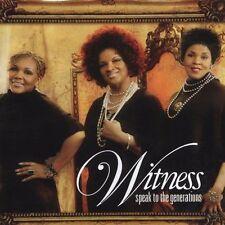 WITNESS SPEAK TO THE GENERATIONS CD