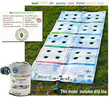 Instant Roll Out Herb Garden Template 8 plant varieties drip line included