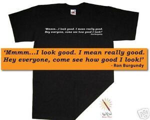 ANCHORMAN T-shirt. Burgundy/Ferrell CULT MOVIES S-XXXL