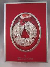 2012 Annual Waterford Silver Christmas Wreath Ornament 158568 NIB