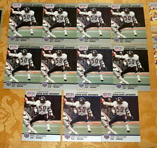 MIKE SINGLETARY Bears 11 card Lot 1990 Pro Set Super Bowl Supermen Card #93