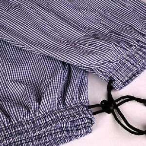 Blue/White Check Chefs Trousers