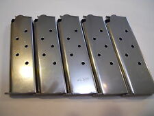 1911, mag, magazine, mags  5 pcs. Stainless Steel , 8 shot, USA,  .45 caliber