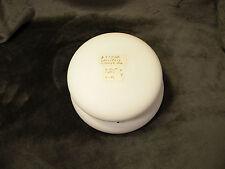 """Antique WAVECREST w/White Satin Finish Dresser Box, 6"""" in diameter & 3 1/2"""" tall"""