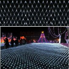 LED String Fairy Lights Net Mesh Curtain Chrismas Xmas Wedding Party Connectable