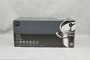 Marks & Spencer Home Chef Tri Ply 5 Piece Pan Set Induction Compatible New