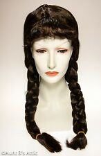 Dorothy Wig Brown Synthetic Hair Pigtail Wig Character Costume Wig W/ Bangs