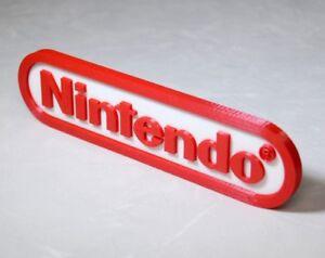 Nintendo 3D logo / shelf display / fridge magnet - gaming collectible