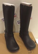 UGG LADIES W ROSEN 1008210 W / BLK Leather Boots Size US 5 UK 3.5 NEW!! $250.00