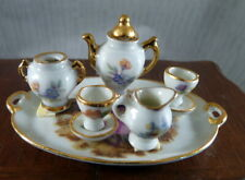 Vintage Porcelain Limoges France TEA SET 1:12 Dollhouse Miniature