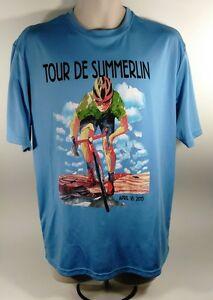 Las Vegas Tour De Summerlin 2015 Dri Fit Blue Shirt Large