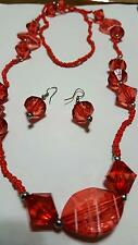 Beautiful Red Costume Jewelry Set