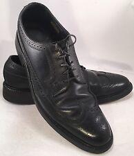Florsheim Royal Imperial Black Long Wing Pebble Grain Oxford Men's Size 11 1/2 A
