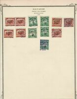 Salvador 1931 Official Stamps Ref 15545
