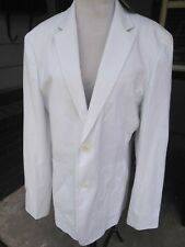$175 NEW WOMEN'S MED ARMANI EXCHANGE A/X White Pinstripe Blazer Jacket 2 Buttons