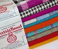 Harris Tweed Fabric & Labels VARIOUS COLOURS & SIZES craft herringbone tartan 3