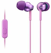 Sony MDREX110AP STEP-UP EX SERIES EARBUD HEADSET  Tangle Free VIOLET Bargain NEW