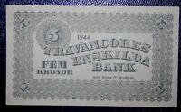 M/S Travancores Sweden Enskilda Bank 5 Kroner - WW2 Red Cross Ship Philippines