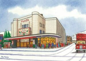 Port Talbot Plaza Cinema in the snow - Christmas Card - Tony Paultyn
