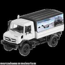 Mercedes Benz Unimog U 5023  Pritsche/Plane Weiss 1:50 Neu NZG