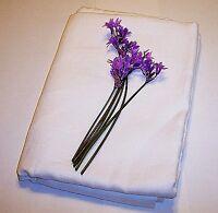"Linen Flat Sheet 100 % Flax European Solid Natural White Organic 101""x 101"""